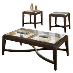 Steve Silver Aurora 3-pc. Coffee Table Set