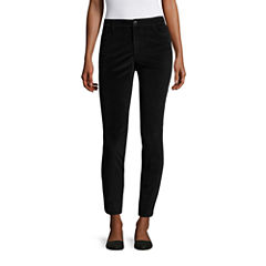 Liz Claiborne Velveteen City Fit Skinny Ankle Pants