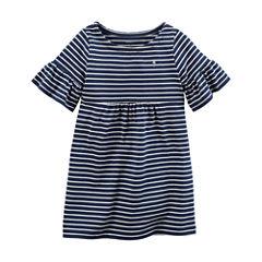 Carter's Elbow Sleeve Bell Sleeve Stripe A-Line Dress - Preschool Girls