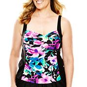 Delta Burke® Floral Print Tankini Swim Top - Plus