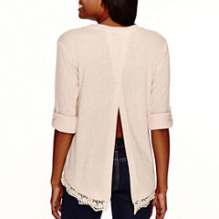 Lily Star 3/4-Sleeve Envelope-Back Top