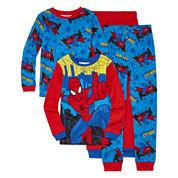 4-pc. Marvel Spiderman Pajama Set- Boys 4-10