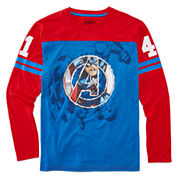 Boys Long Sleeve Avengers T-Shirt-Big Kid