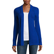 Liz Claiborne® Long-Sleeve Textured Cardigan