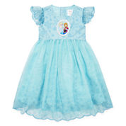 Disney Short Sleeve Frozen A-Line Dress - Toddler