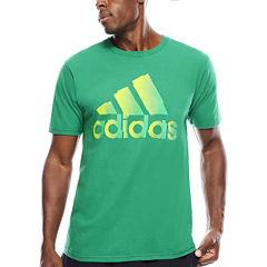 adidas® Short-Sleeve Logo Chop Cotton Tee
