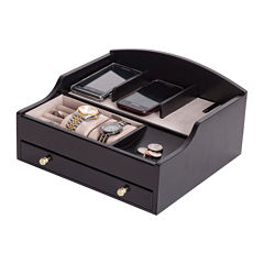 Mele & Co. Mens Java-Finish Jewelry Box & Charging Station