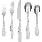 Farberware® Wasabi Sand 20-pc. 18/10 Stainless Steel Flatware Set