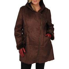 Excelled Faux-Shearling 3/4-Length Coat - Plus