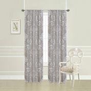 Laura Ashley® Josette Damask 2-Pack Rod-Pocket Curtain Panels