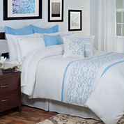 Cambridge Home Isabella Oversized Embroidered Complete Bedding Set with Sheets