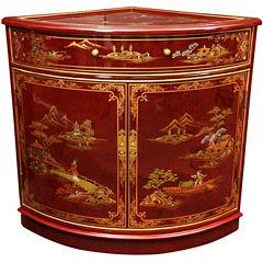 Oriental Furniture Corner Accent Cabinet