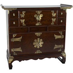 Oriental Furniture Korean Design Scholar Accent Chest