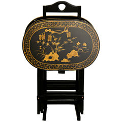 Oriental Furniture Rosewood TV Tray Table