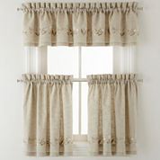 Lilly of the Valley Rod-Pocket Kitchen Curtains