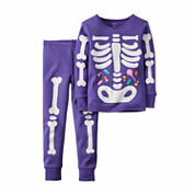 Carter's® 2-pc Halloween-Glow-in-the-Dark PJ Set - Toddler Girls 2t-5t