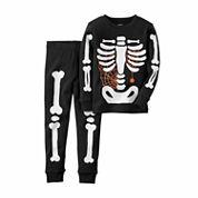 Carter's® 2-pc. Glow-in-the-Dark Skeleton Cotton Pajama Set - Toddler Boys 2t-5t