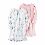 Carter's® 2-pk. Short-Sleeve Pink Dot Princess Gowns - Toddler Girls 2t-5t