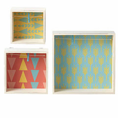 Framed Shadow Box with Clip- Set of 3