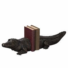 Alligator Bookend Pair