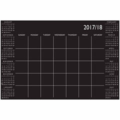 Brewster Wall Black Academic Calendar 2017-18 Message Board