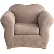 SURE FIT® Stretch Jacquard Damask 2-pc. Chair Slipcover