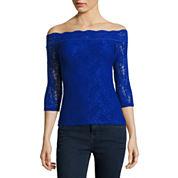 Decree® Off-Shoulder Lace Bodycon Top - Juniors