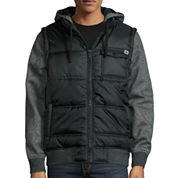 DC Shoes Co.® Blocked Layered Marled-Fleece Hoodie