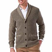 Haggar Long Sleeve Sweater Knit Cardigan