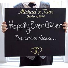 Cathy's Concepts Custom Ring Bearer Wedding Chalkboard Sign