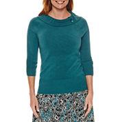 Sag Harbor Heritage Separates 3/4 Sleeve Sweater