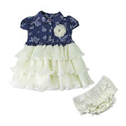 Nanette Floral-Print Denim Dress - Baby Girls 6m-24m