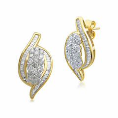 Diamond Blossom 1 CT. T.W. Round White Diamond 10K Stud Earrings