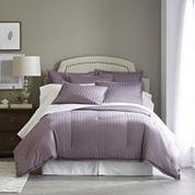 Royal Velvet® 400tc Damask Stripe Cotton Comforter Set & Accessories