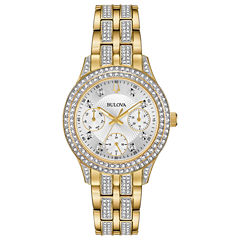 Bulova Womens Gold Tone Bracelet Watch-98n112