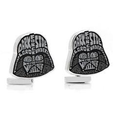 Star Wars™ Darth Vader Typography Cuff Links