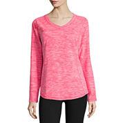 Made for Life™ Long-Sleeve V-Neck Fleece Pullover - Tall