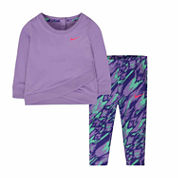 Nike® Lilac Logo Tunic Set - Baby Girls newborn-24m