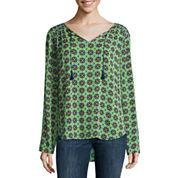 Liz Claiborne® 3/4-Sleeve Peasant Top