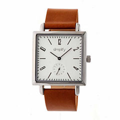 Simplify Mens Brown Strap Watch-Sim5003