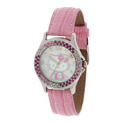 Hello Kitty® Pink Crystal-Accent Watch