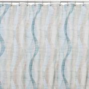 Sketchbook Waves Shower Curtain