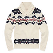 Arizona Crew Neck Long Sleeve Cotton Cardigan - Big Kid