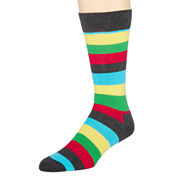 Happy Socks Mens Striped Crew Socks
