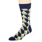 Happy Socks Mens Geometric Print Crew Socks