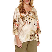 Alfred Dunner Crew Neck Blouse - Plus