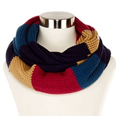 Liz Claiborne® Colorblock Thermal Stitch Infinity Scarf