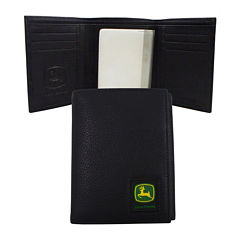 John Deere® Leather Trifold Wallet
