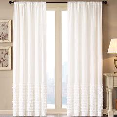 Madison Park Kylie Rod-Pocket Cotton Curtain Panel