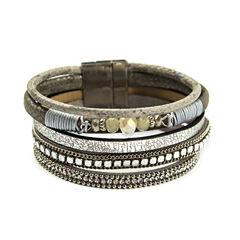 Arizona Womens Clear Wrap Bracelet